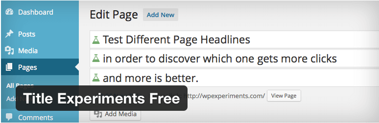WordPress Title Experiment Plugin