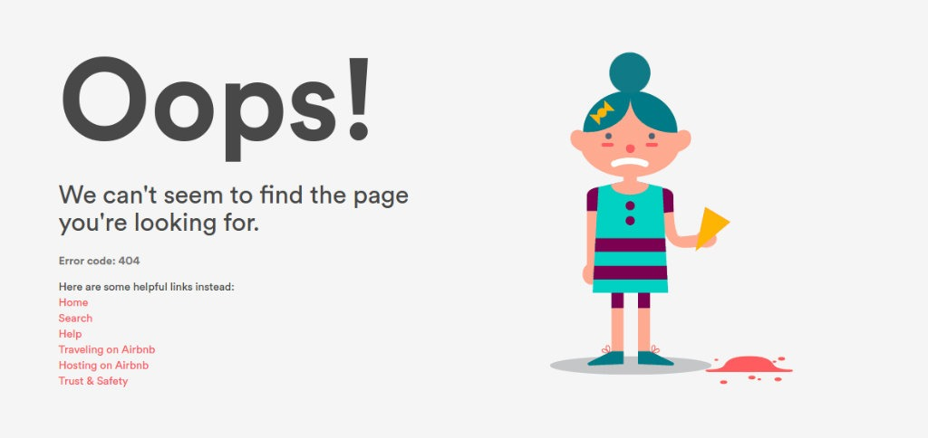 Airbnb 404 Page