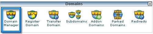 FastDomain Domain Manage Tab