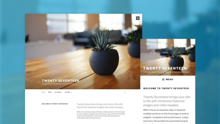 WordPress 4.7 Twenty Seventeen