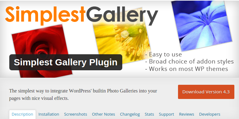 Simplest Gallery Plugin